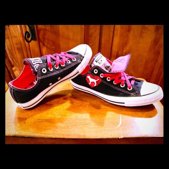 5d4e0bf84cdda Converse Pink Victoria's Secret Shoes, Ladies 8 NWT